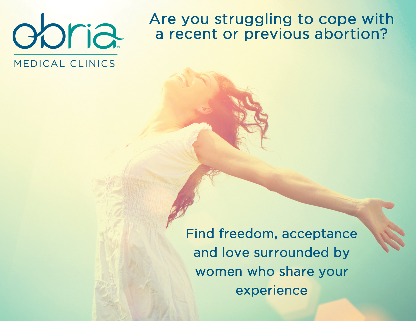 Obria Abortion Recovery group flyer
